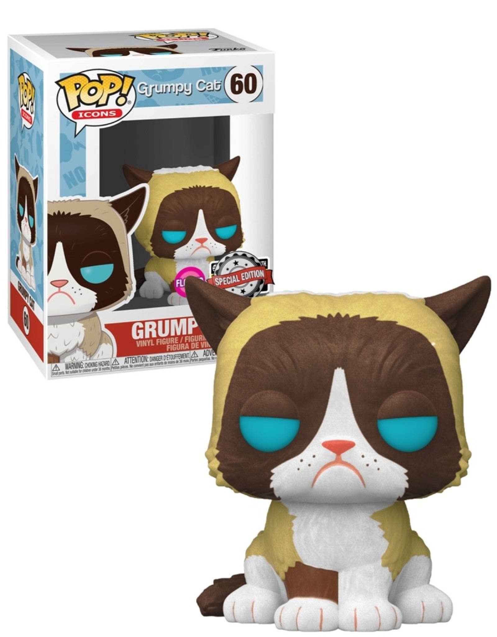 Grumpy Cat 60 ( Funko Pop ) Special Edition Flocked