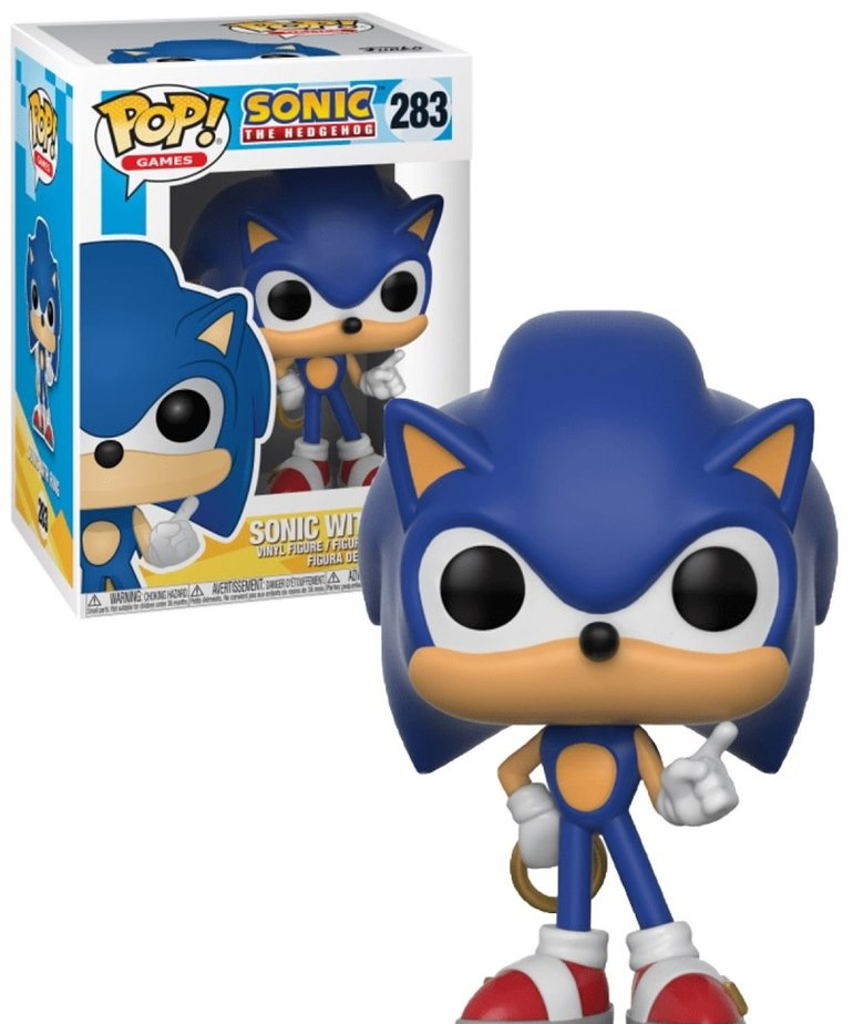 Sonic 283 ( Funko Pop ) Sonic with Ring