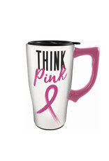 Think Pink ( Ceramic Travel Mug )