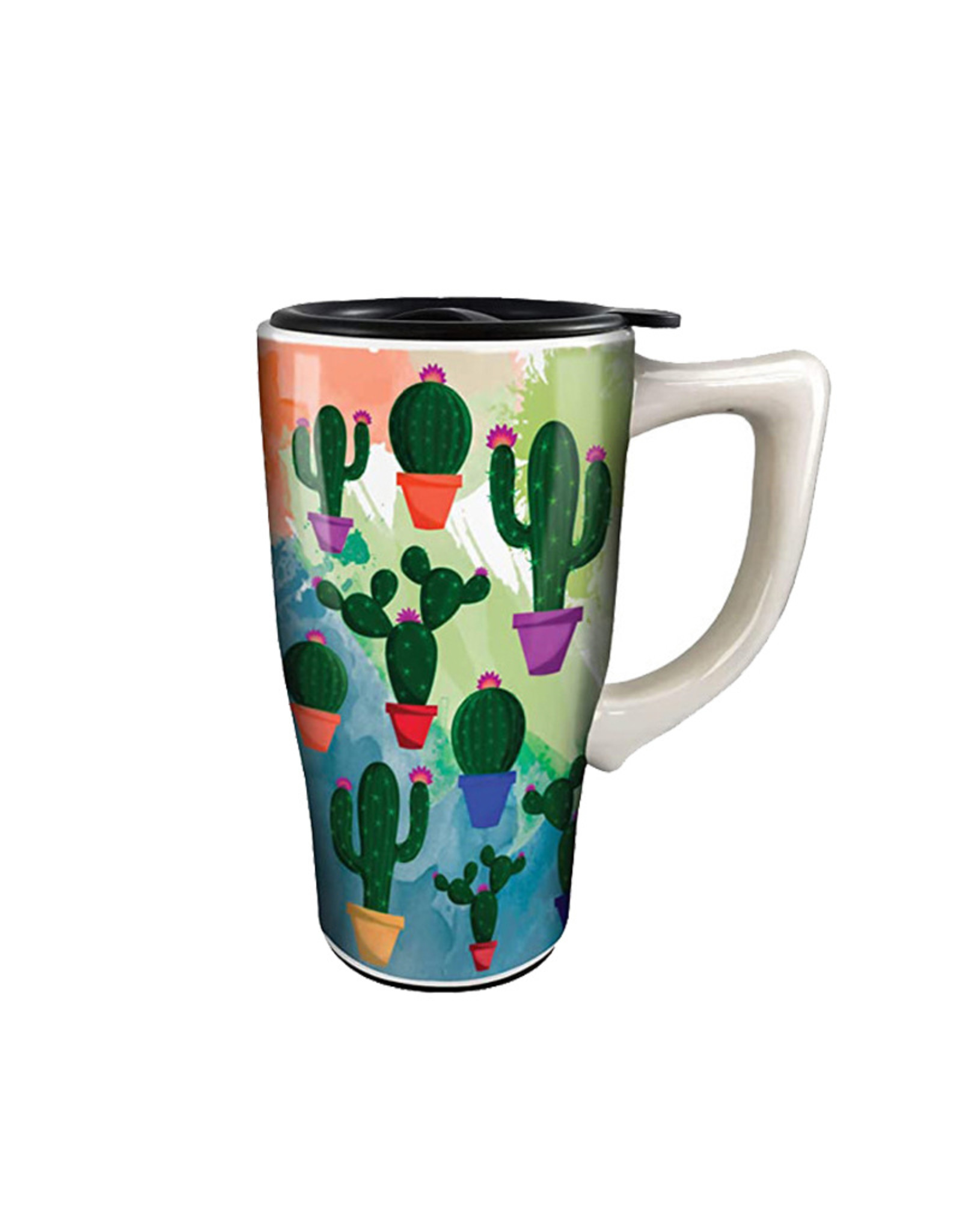 Cactus ( Ceramic Travel Mug )