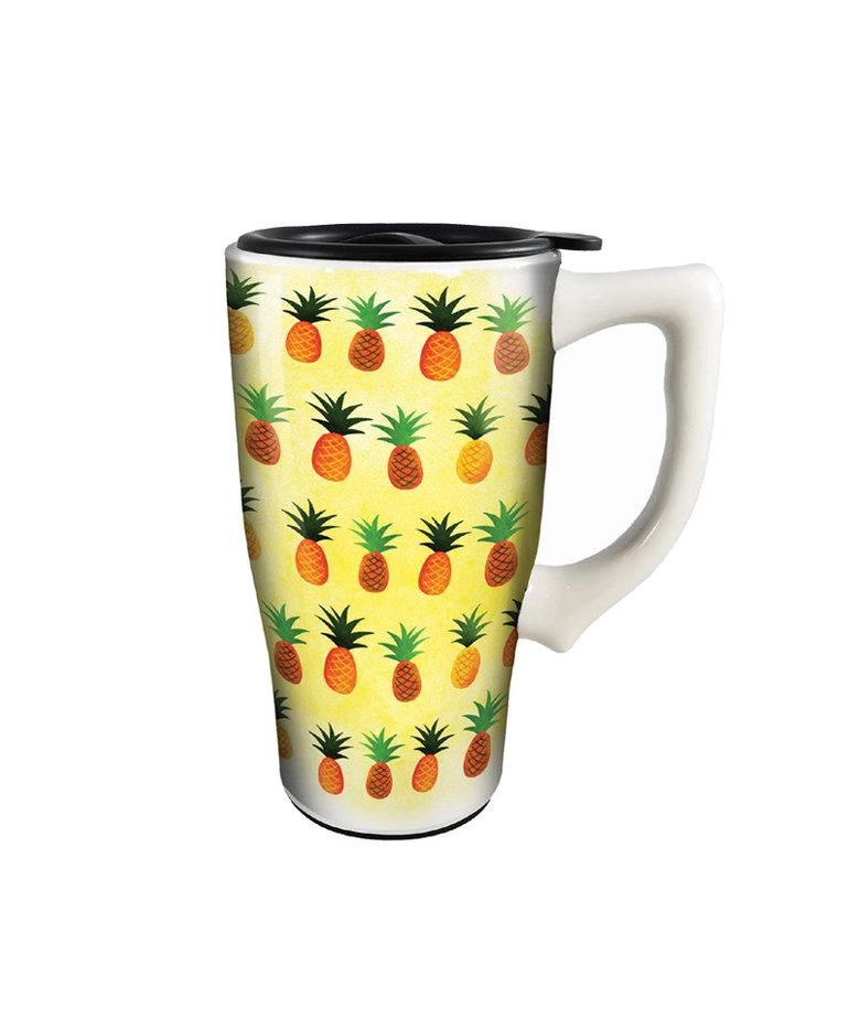 Pineapple ( Ceramic Travel Mug )