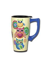 Owls ( Ceramic Travel Mug )