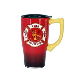 Pompier ( Tasse de Transport en Céramique )
