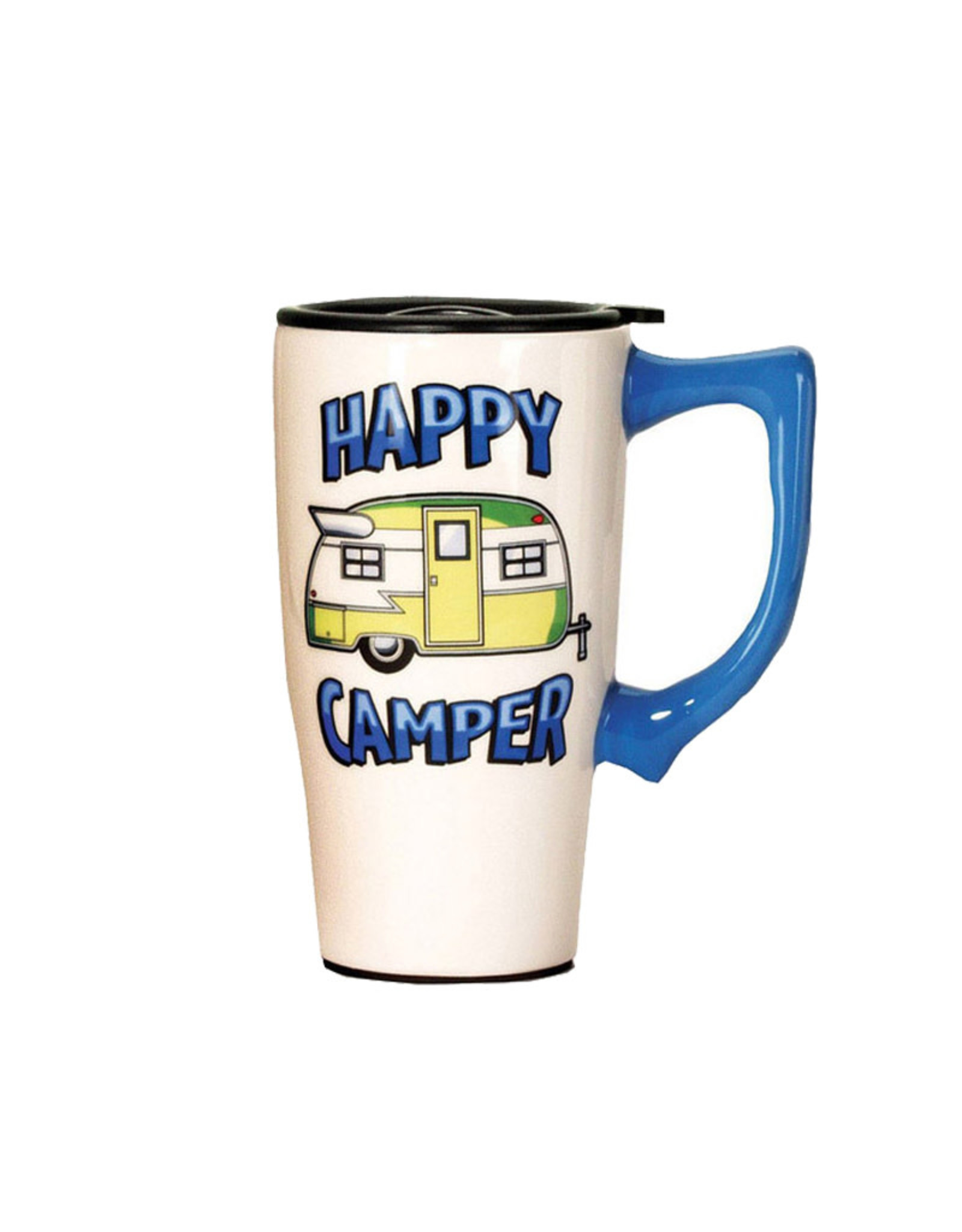 Happy Camper ( Ceramic Travel Mug )