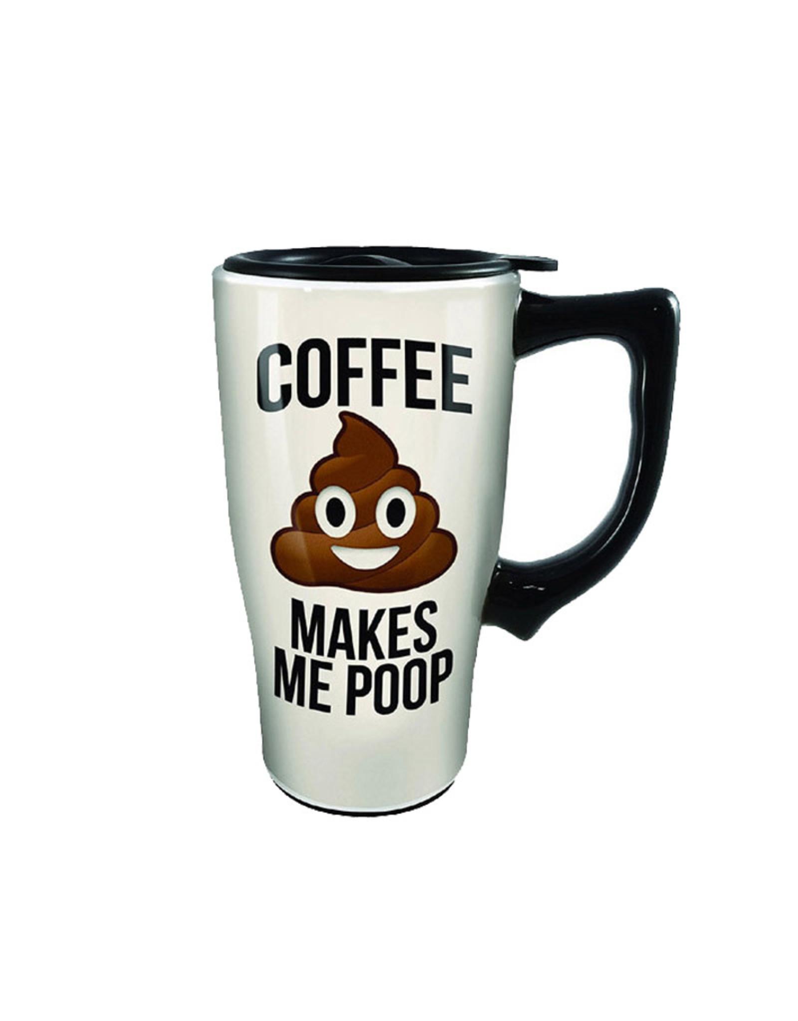 Coffee Makes me Poop ( Ceramic Travel Mug  )