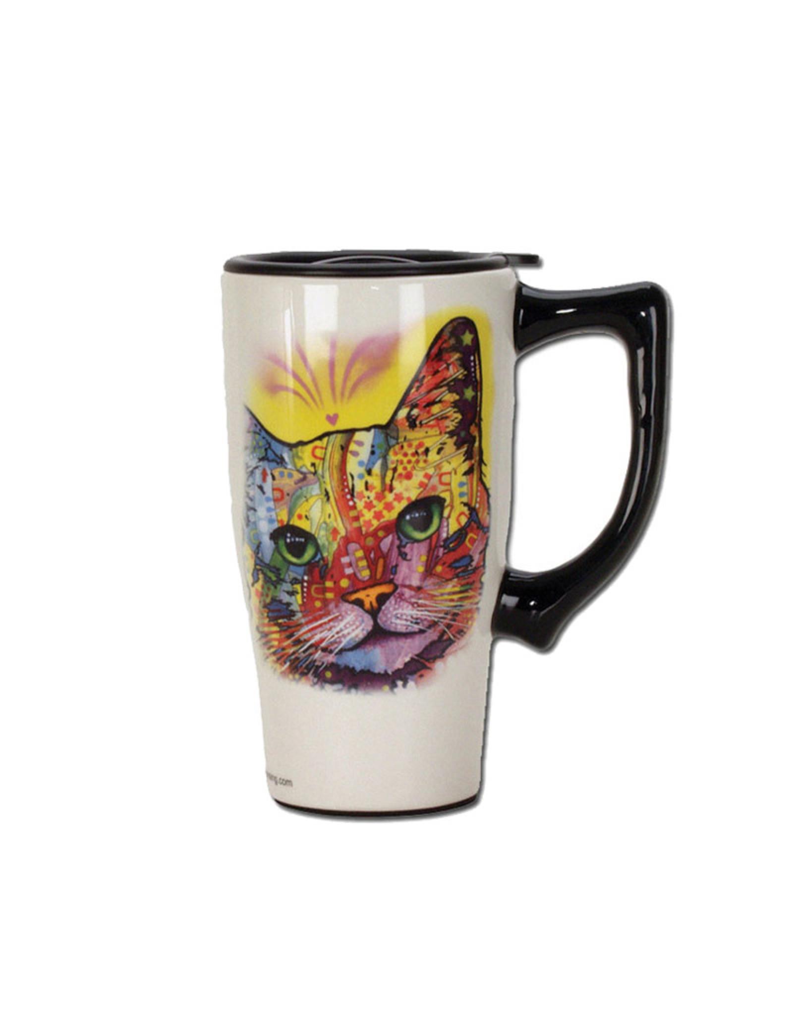 Cat ( Ceramic  Travel Mug )