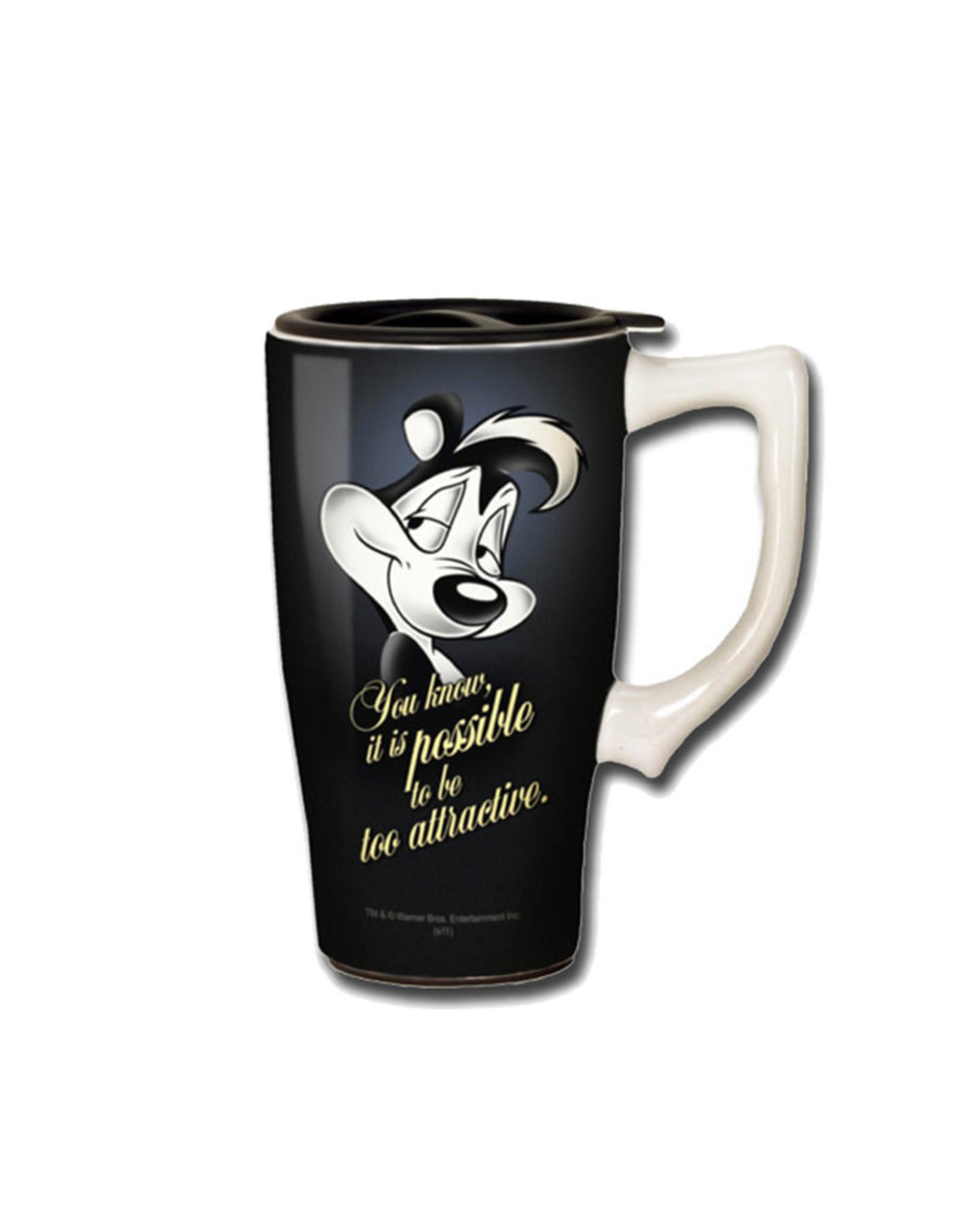 Looney Tunes ( Ceramic Travel Mug ) Pepe the Pew