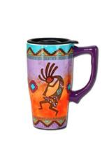 Kokopelli ( Ceramic Travel Mug )
