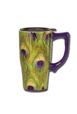 Peacock Feather ( Ceramic Travel Mug )