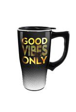 Good Vibes Only ( Ceramic Travel Mug )