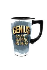 Genius ( Ceramic Travel Mug ) Doesn't Happen on Decaf