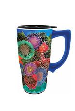 Flowers ( Ceramic Travel Mug )