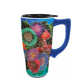 Fleurs ( Tasse de Transport en Céramique )