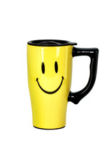 Happy Face ( Ceramic Travel Mug )