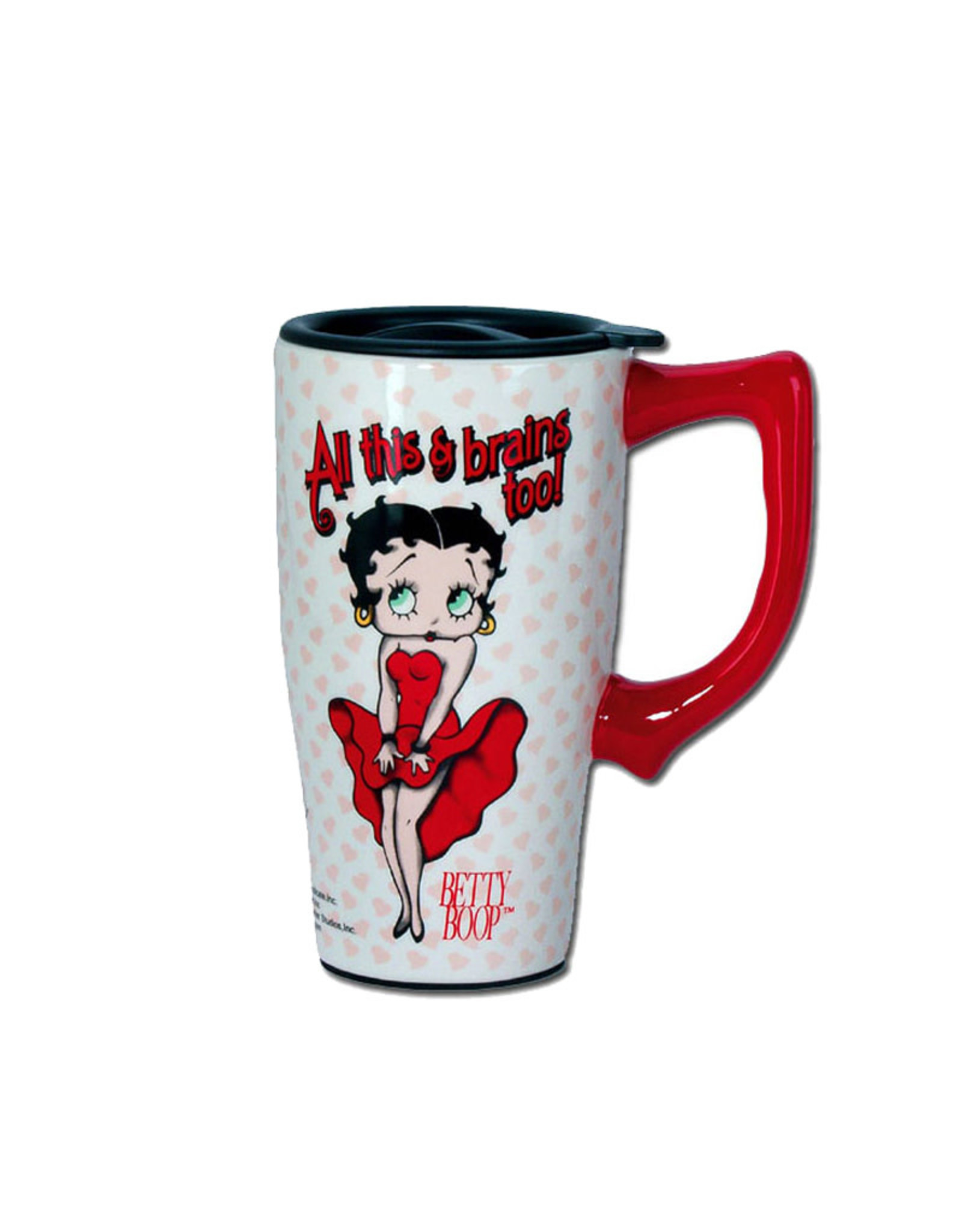 Betty Boop Betty Boop  ( Ceramic Travel Mug ) All This & Brains Too !