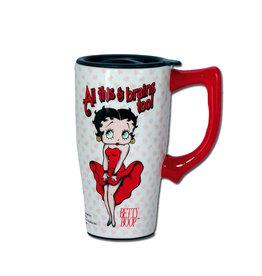 Betty Boop Betty Boop  ( Ceramic Travel Mug ) All This & Brains Too !