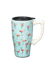 Flamingos ( Ceramic Travel Mug )
