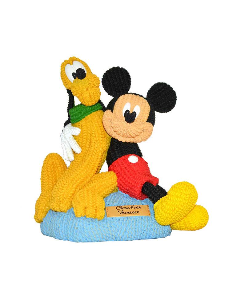 Disney Disney ( Mickey & Pluto Figurine ) Knit Together