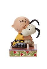 Peanuts ( Jim Shore Figurine ) Charlie Brown and Snoopy Hug