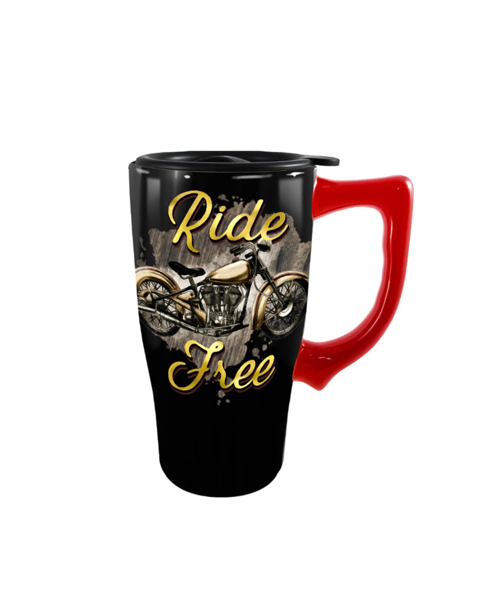 Ride Free ( Ceramic Travel Mug ) Bike