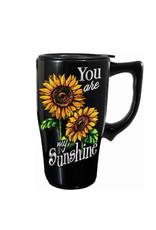 You are my Sunshine ( Ceramic Travel Mug ) Flowers