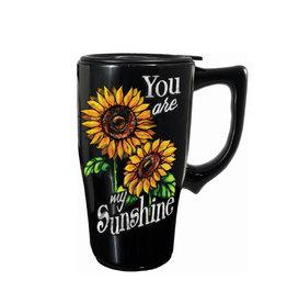 Tu es mon Soleil ( Tasse de Transport en Céramique ) Fleurs