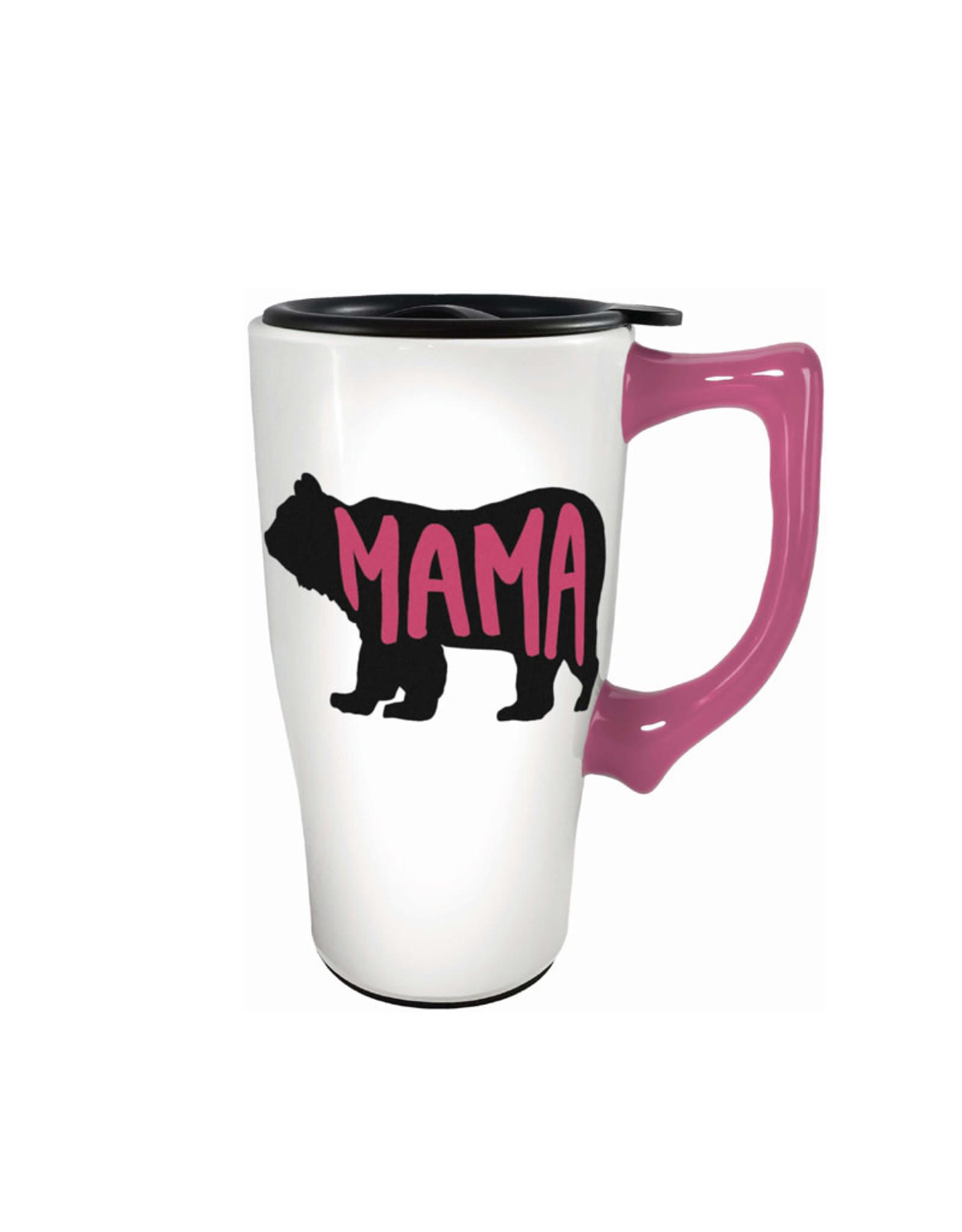 Mama Bear ( Ceramic Travel Mug )