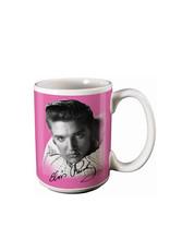 Elvis Elvis Presley ( Ceramic Mug ) Pink