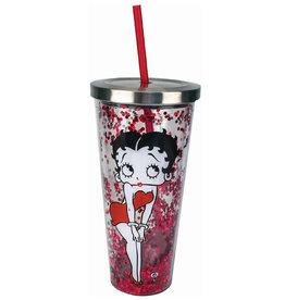 Betty Boop Betty Boop ( Verre en Acrylique Brillant avec Paille )