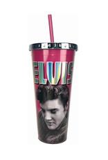 Elvis Elvis Presley ( Acrylic Glass with Straw ) Pink