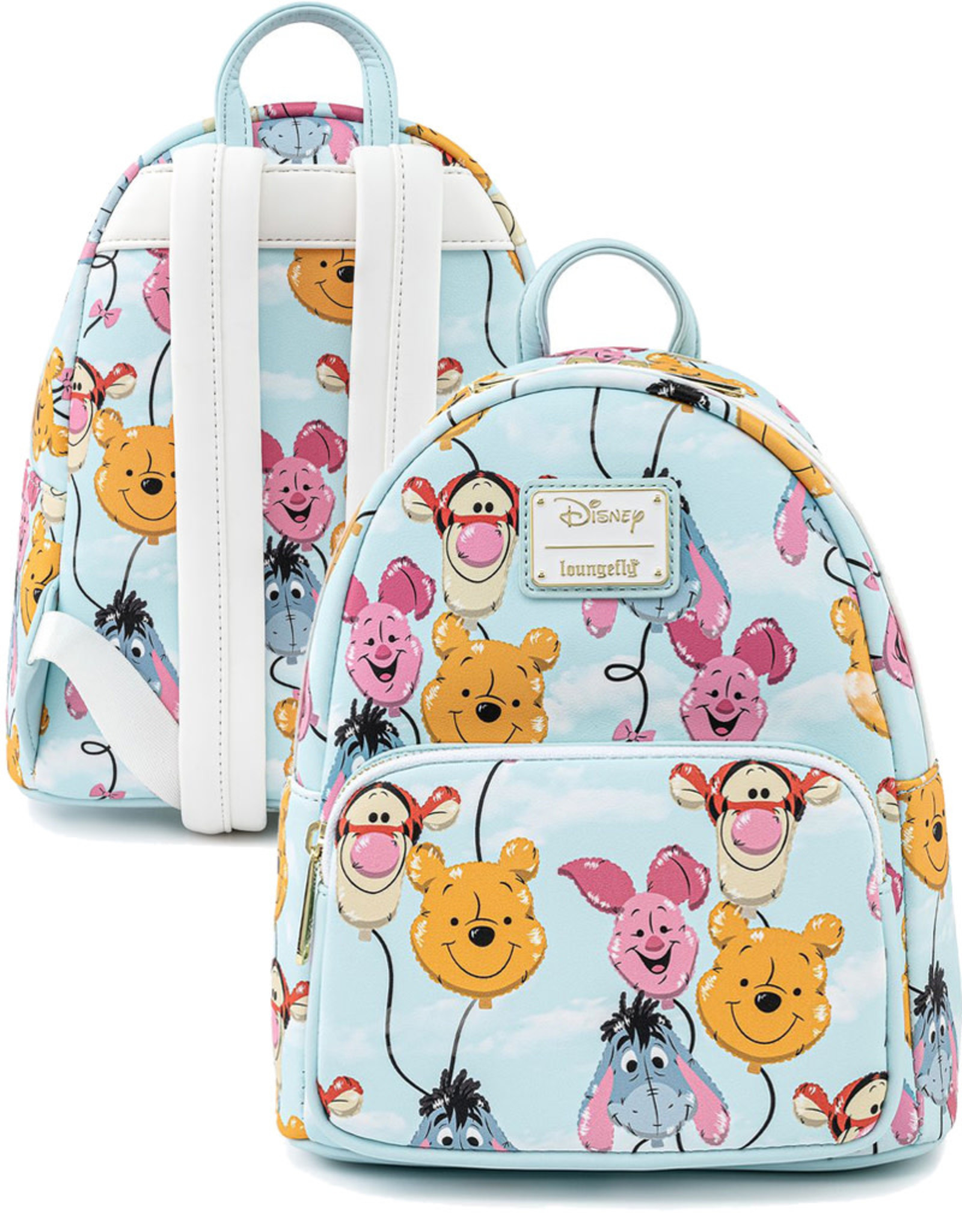 Disney ( Loungefly Mini Backpack )  Winnie the Pooh Balloons
