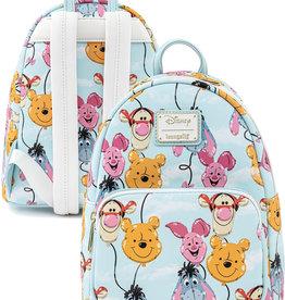 Disney ( Loungefly Mini Backpack )  Winnie the Pooh Balloons