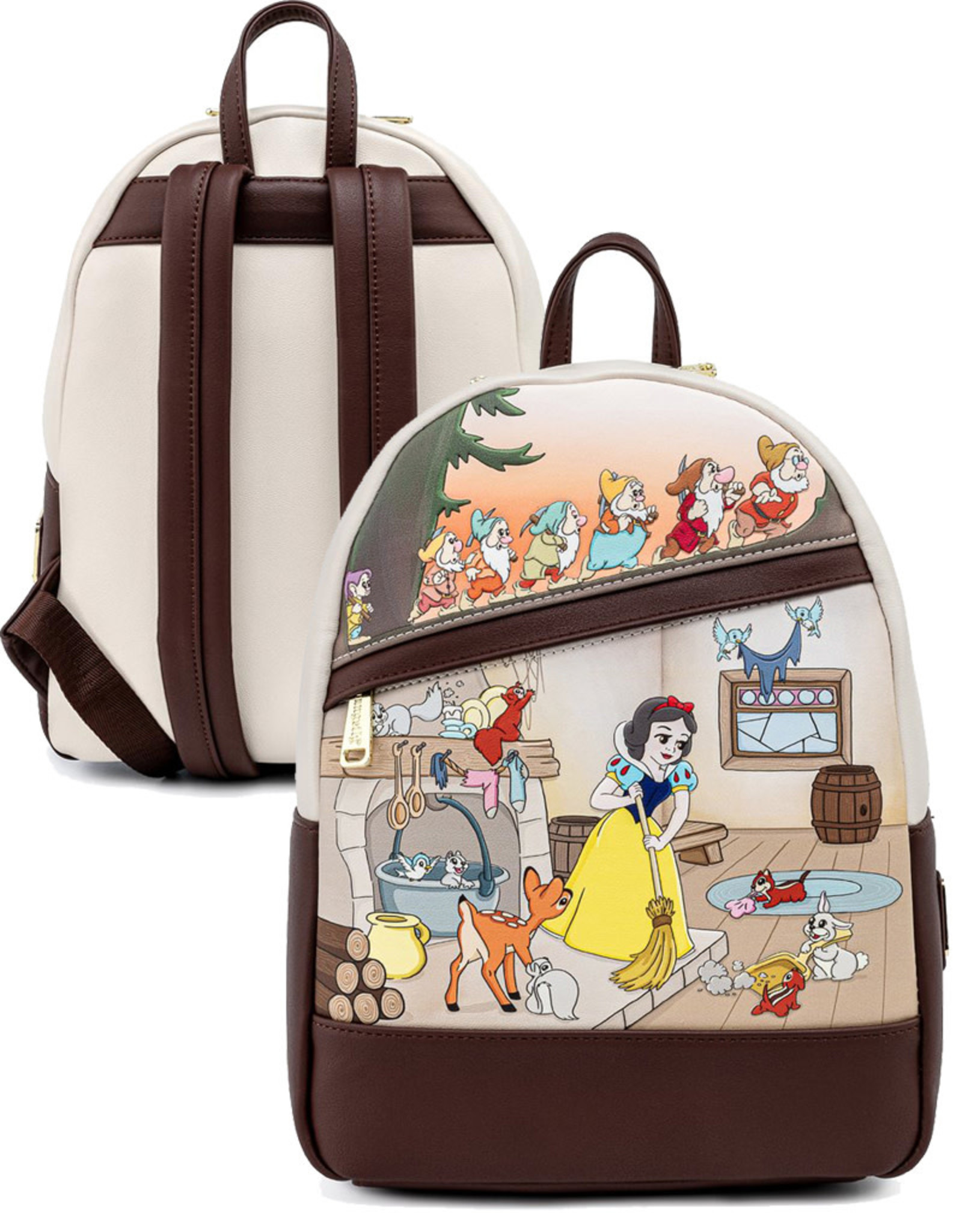 Disney ( Loungefly Mini Backpack ) SNOW WHITE AND THE SEVEN DWARFS