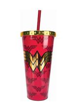 Dc Comics ( Acrylic Glass with Straw ) Wonder Woman