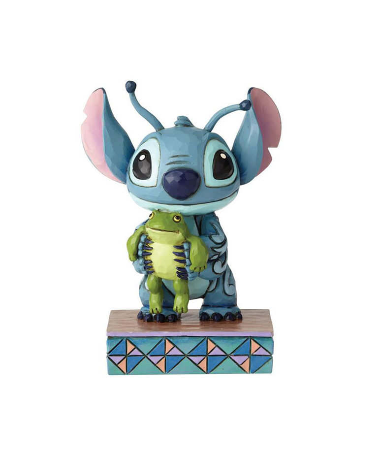 Disney ( Disney Traditions Figurine ) Stitch with Frog