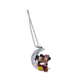 Disney ( Pendentif ) Mickey et Minnie Lune