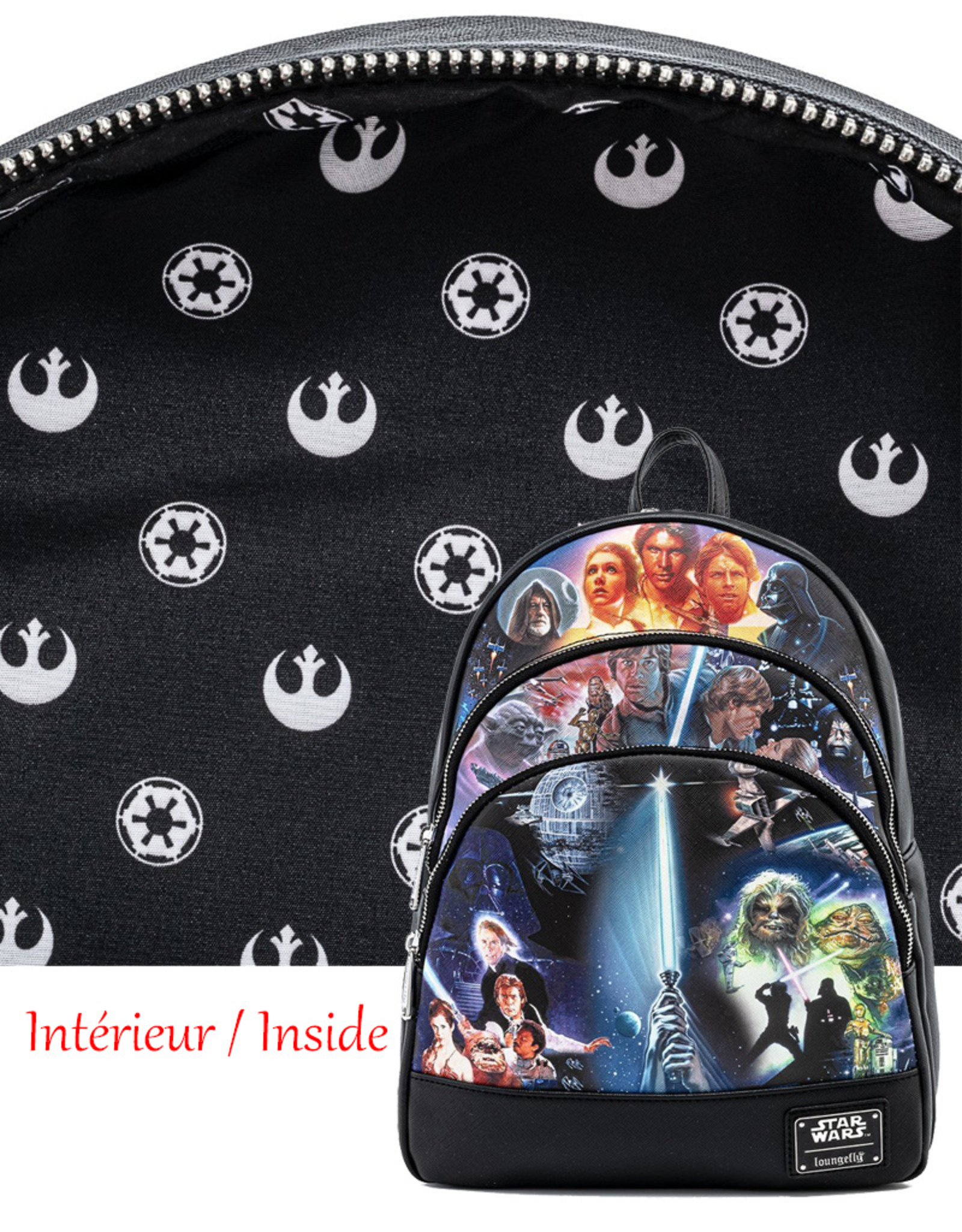 Star Wars ( Loungefly Mini Backpack ) Trilogy