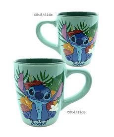 Disney ( Mug ) Stitch Ohana Flowers