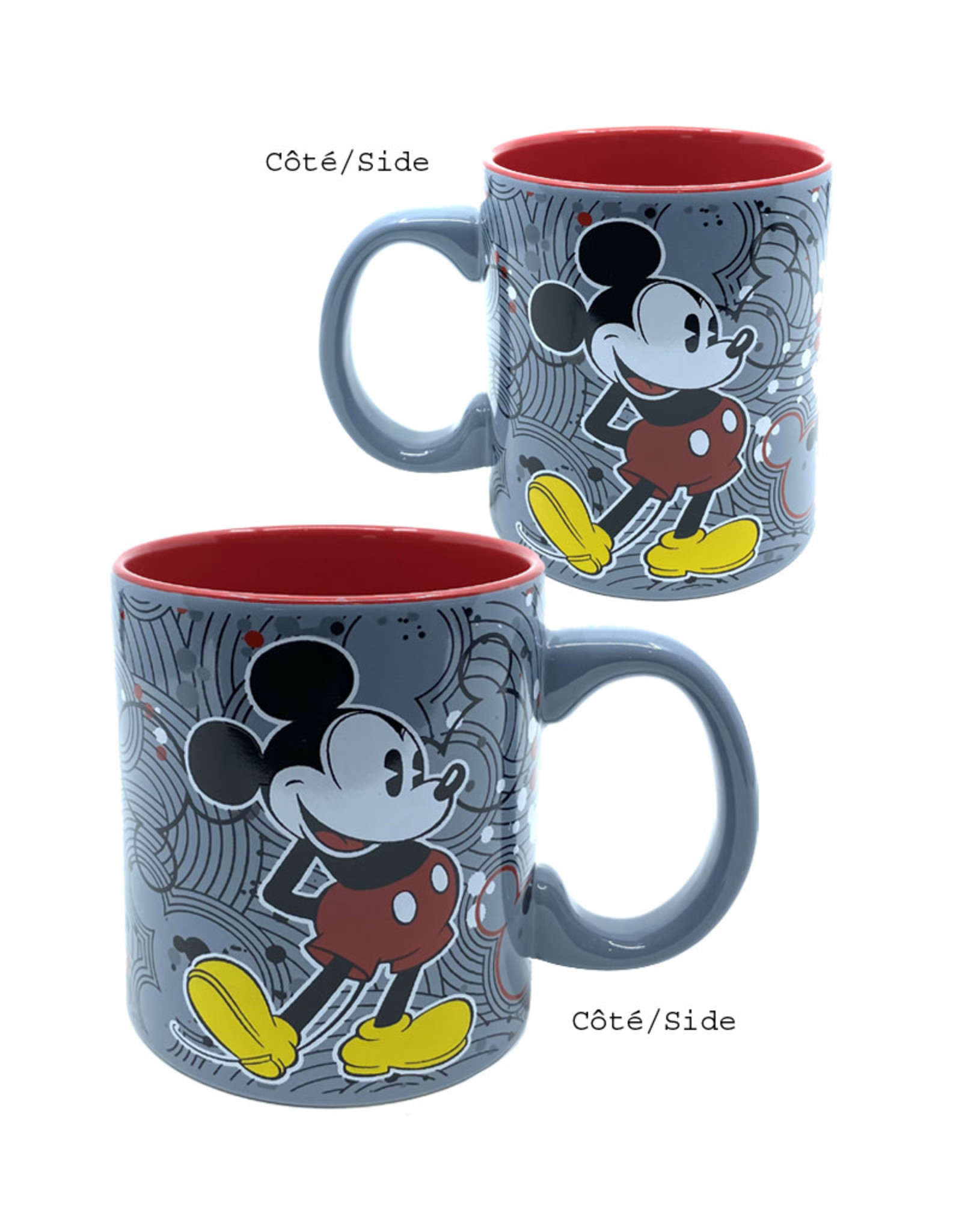 Disney ( Mug ) Mickey Mouse Grey