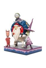 The Nightmare Before Christmas ( Disney Traditions Figurine )  Lock, Shock, Barrel & Santa