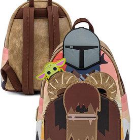 Disney ( Loungefly Mini Backpack ) Star Wars Mandalorian