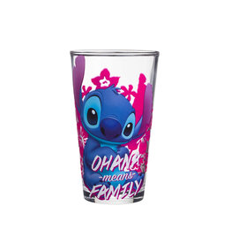Disney ( Verre ) Stitch Ohana Veut Dire Famille Rose