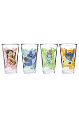 Disney ( Glass Set ) Lilo, Stitch & Scrump