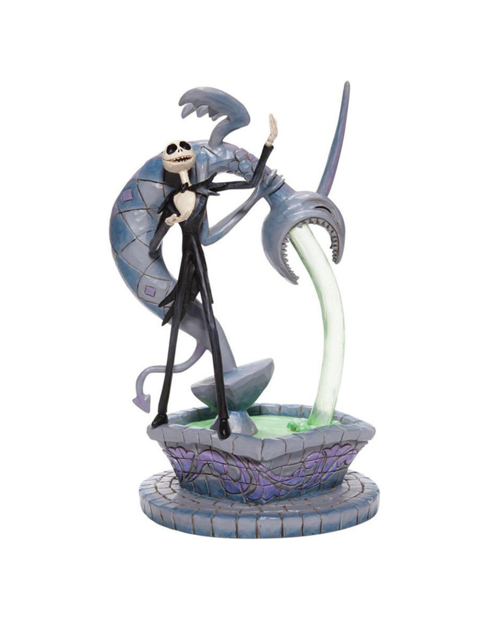 The Nightmare Before Christmas Disney ( Disney Traditions Figurine ) Jack with  Fountain