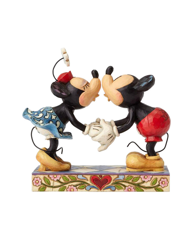 Disney ( Disney Traditions Figurine ) Mickey & Minnie Kiss
