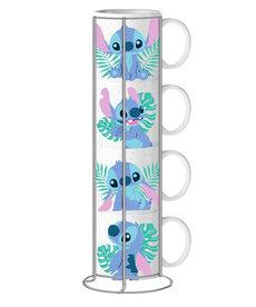 Disney ( 4 mugs set 10 o.z )  Stitch