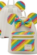 Disney ( Loungefly Mini Backpack ) Minnie Rainbow