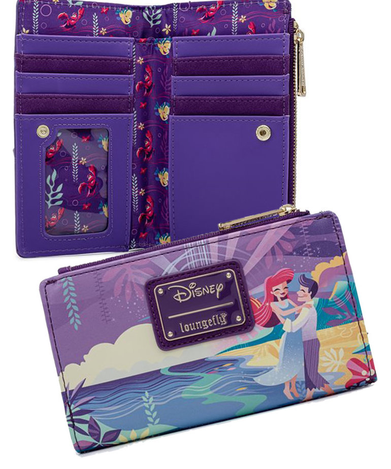 Disney ( Loungefly Wallet ) Ariel Castle & Characters