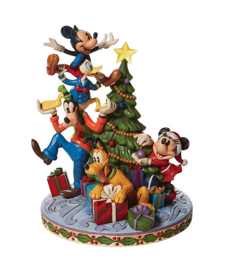 Disney ( Disney Traditions Figurine ) Mickey & Friends Christmas Tree