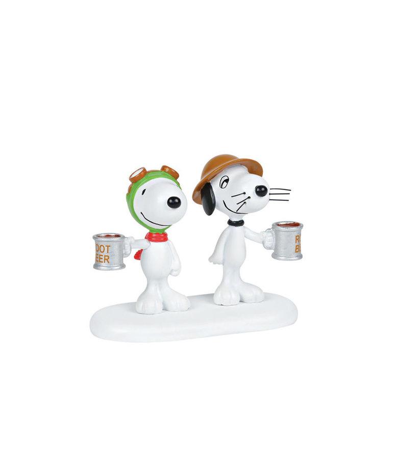 Peanuts ( Department 56 Peanuts Village Figurine ) Snoopy & Spike Root Beer